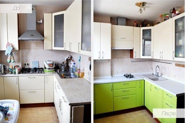 Переделать старый кухонный гарнитур своими руками фото